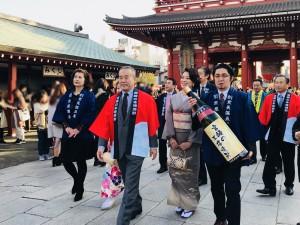 ノンジョルノ成功祈願!in東京・浅草