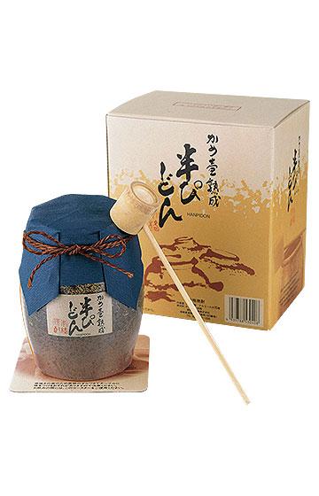 かめ壺熟成 半ぴどん (陶器・黒ボトル)